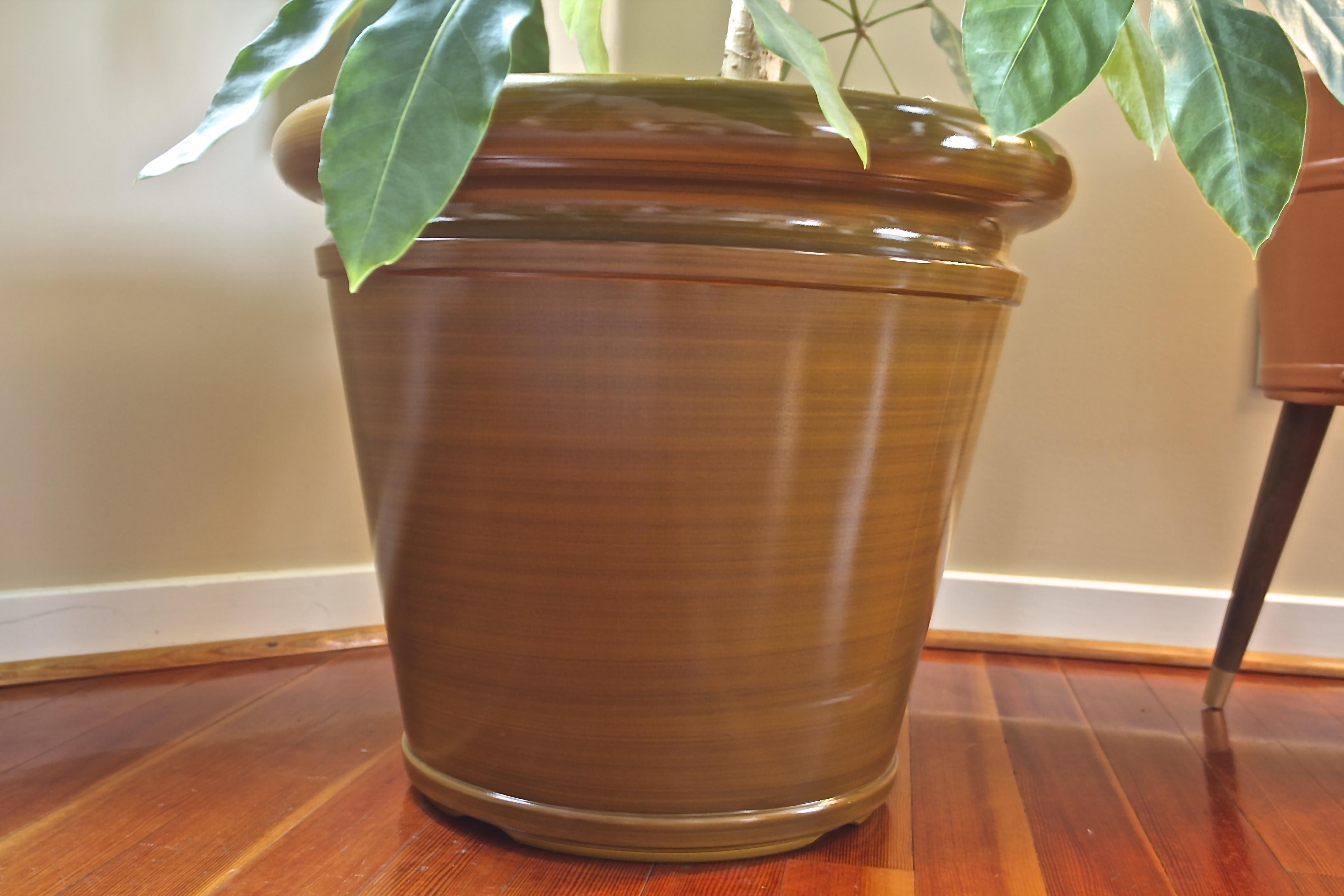 brown planter